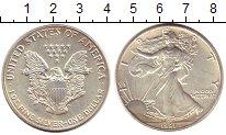 Изображение Монеты США 1 доллар 1991 Серебро UNC- Шагающая  Свобода