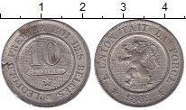 Изображение Монеты Бельгия 10 сантим 1862 Медно-никель XF+