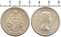Изображение Монеты Канада 50 центов 1961 Серебро XF+ Елизавета II