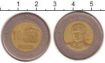 Изображение Монеты Доминиканская республика 10 песо 2008 Биметалл VF