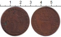 Изображение Монеты Великобритания 1/2 пенни 1795 Медь XF-