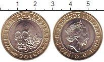 Изображение Мелочь Великобритания 2 фунта 2016 Биметалл UNC Елизавета II.  Вилья