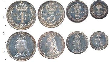 Изображение Наборы монет Великобритания Маунди сэт 1890 1890 Серебро UNC-