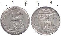Изображение Монеты Испания 1 песета 1933 Серебро XF+