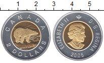 Изображение Монеты Канада 2 доллара 2005 Серебро Proof- Елизавета II