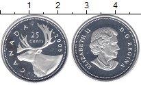 Изображение Монеты Канада 25 центов 2005 Серебро Proof-