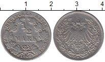 Изображение Монеты Германия 1/2 марки 1906 Серебро XF-