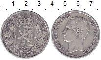 Изображение Монеты Бельгия 5 франков 1850 Серебро XF-
