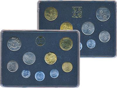 Изображение Подарочные наборы Чехословакия Набор 1991 года 1991  UNC-