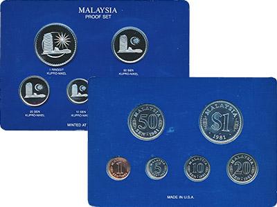 Изображение Подарочные наборы Малайзия Набор 1981 года 1981  Proof Набор из шести монет