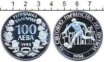 Изображение Монеты Болгария 100 лев 1993 Серебро Proof- Чемпионат мира по фу