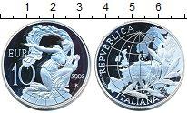 Изображение Монеты Италия 10 евро 2003 Серебро Proof