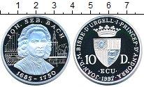 Изображение Монеты Андорра 10 динерс 1997 Серебро Proof Иоган Себастьян Бах