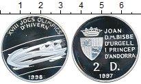 Изображение Монеты Андорра 2 динерса 1997 Серебро Proof-