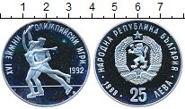 Изображение Монеты Болгария 25 лев 1989 Серебро Proof- XVI Олимпийские зимн