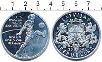 Изображение Монеты Латвия 1 лат 2004 Серебро Proof Чемпионат мира по фу