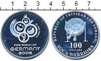 Изображение Монеты Тринидад и Тобаго 100 долларов 2006 Серебро Proof Чемпионат  мира  по
