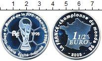 Изображение Монеты Франция 1 1/2 евро 2005 Серебро Proof Франция - чемпион  м