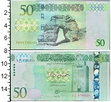Изображение Банкноты Ливия 50 динар 2016  UNC