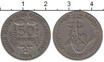 Изображение Дешевые монеты Западно-Африканский Союз 50 франков 1984 Медно-никель XF-