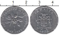 Изображение Барахолка Ямайка 1 цент 1975 Медно-никель VF