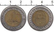 Изображение Дешевые монеты Египет 1 фунт 2010 Биметалл VF