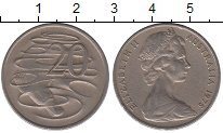 Изображение Барахолка Австралия 20 центов 1975 Медно-никель XF