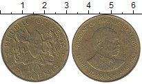 Изображение Дешевые монеты Кения 10 центов 1987 Латунь-сталь VF+