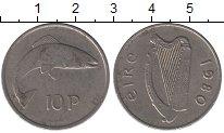 Изображение Барахолка Ирландия 10 пенсов 1980 Медно-никель XF-