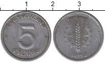 Изображение Барахолка ГДР 5 пфеннигов 1948 Алюминий VF