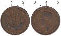 Изображение Дешевые монеты Великобритания 1/2 пенни 1942 Медь VF+