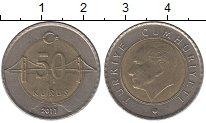 Изображение Дешевые монеты Турция 50 куруш 2011 Биметалл XF