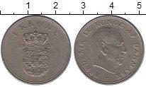 Изображение Барахолка Дания 1 крона 1963 Медно-никель XF