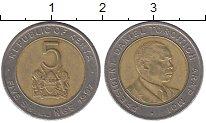 Изображение Барахолка Кения 5 шиллингов 1991 Биметалл XF