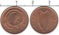 Изображение Барахолка Ирландия 1 пенни 1971 Медь XF+