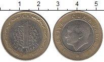 Изображение Дешевые монеты Турция 1 лира 2011 Биметалл XF-