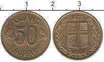 Изображение Дешевые монеты Исландия 50 аурар 1970 Латунь XF