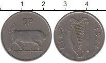 Изображение Барахолка Ирландия 5 пенсов 1974 Медно-никель XF