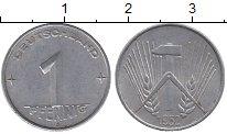 Изображение Дешевые монеты ГДР 1 пфенниг 1952 Алюминий XF-