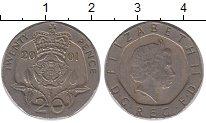 Изображение Дешевые монеты Великобритания 20 пенсов 2001 Медно-никель VF+