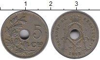 Изображение Дешевые монеты Бельгия 5 сентим 1913 Медно-никель VF+