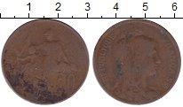 Изображение Дешевые монеты Франция 10 сантим 1912 Медь VF-