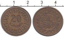 Изображение Дешевые монеты Тунис 20 миллим 1960 Латунь XF-