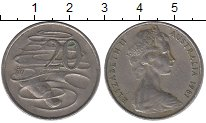 Изображение Дешевые монеты Австралия 20 центов 1981 Медно-никель VF+