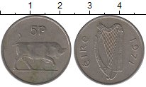 Изображение Барахолка Ирландия 5 пенсов 1971 Медно-никель XF
