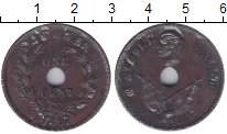 Изображение Монеты Саравак 1 цент 1897 Медь XF