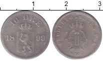 Изображение Монеты Норвегия 10 эре 1899 Серебро XF