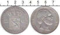 Изображение Монеты Нидерланды 2 1/2 гульдена 1875 Серебро XF