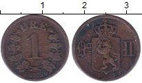 Изображение Монеты Норвегия 1 эре 1876 Медь XF Оскар II