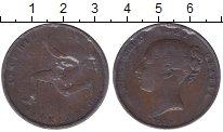 Изображение Монеты Остров Мэн 1 пенни 1839 Медь XF